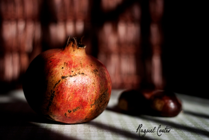 Fruits of Autumn: Still life with pomegranate
